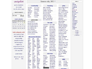 Craigslist+Kc+MO the kansas city craigslist homepage as it appeared ...