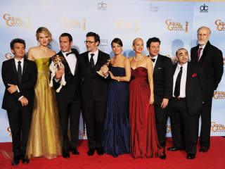 GETTY CAST & CREW OF ARTIST GOLDEN GLOBES 2012