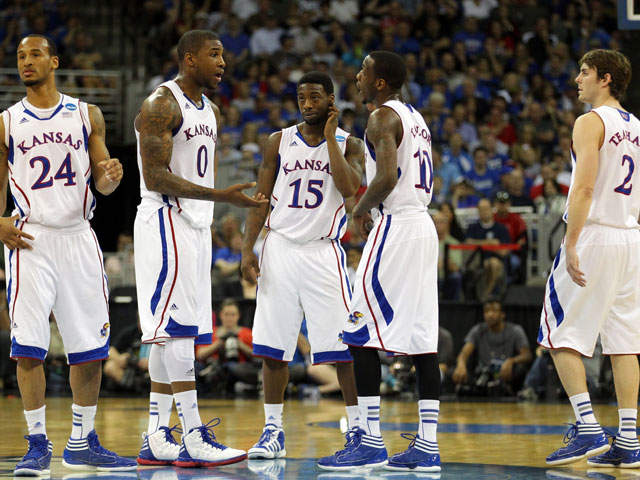 getty: ku jayhawks vs purdue ncaa tournament 120318