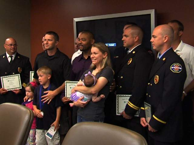 KSHB: NIKKI MCCLURE MEETS THOSE WHO SAVED HER 120521