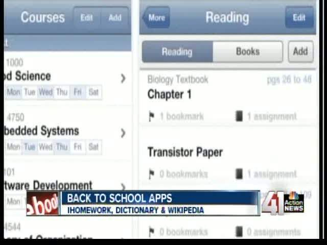 Back to school apps for students