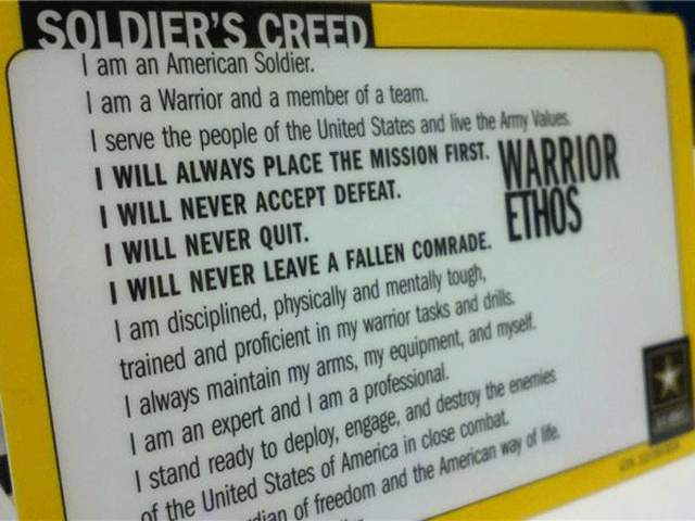 KSHB: BETHS BOOT CAMP - SOLDIERS CREED