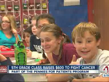5th-graders raise money to fight cancer