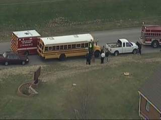 SKYTRACKER: KCK SCHOOL BUS CRASH 55TH METROPOLITAN 121119