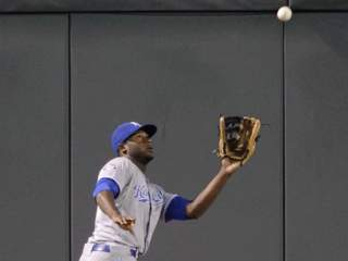 getty: lorenzo cain in 2012 royals