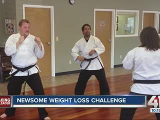 Newsome kicks her way through karate class