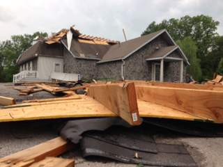 KSHB: INDEPENDENCE CHURCH STORM DAMAGE 130520