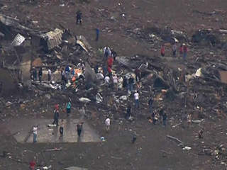 Tornado damage near Oklahoma City
