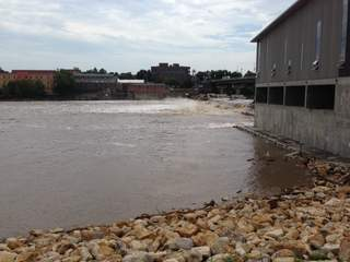 Wastewater overflows into Kansas River