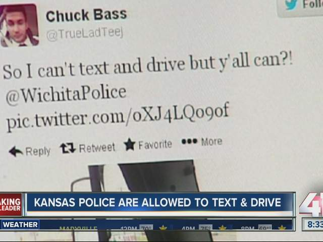 Wichita driver snaps pic of cop texting and driving