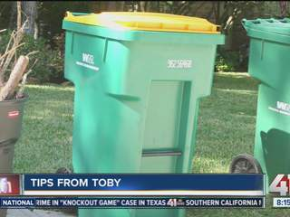 Company cleans, disinfects trash cans