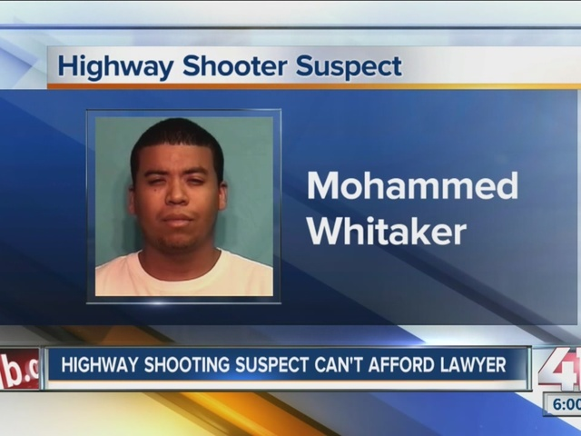 Highway shootings suspect says he can't afford lawyer
