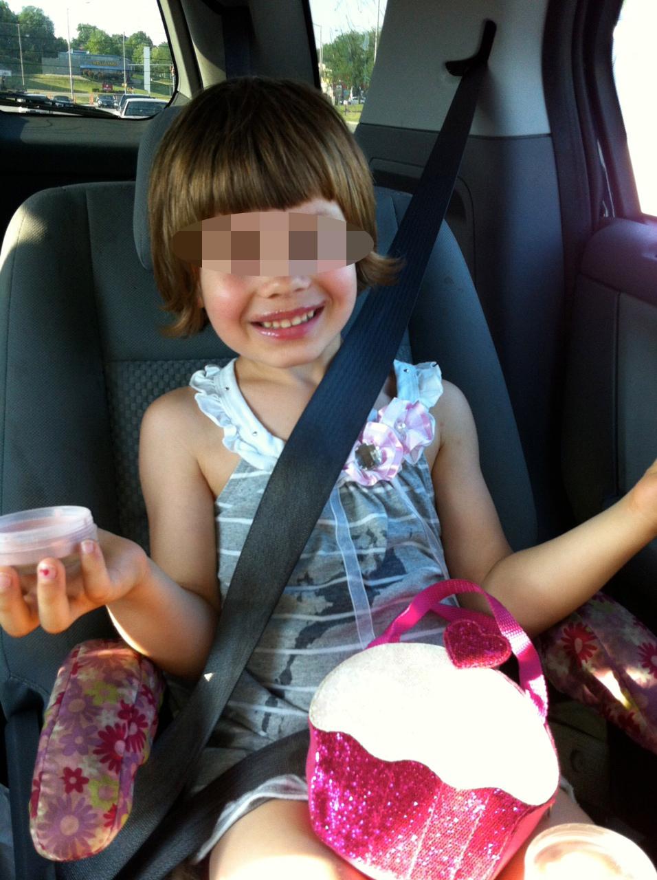AJ in car