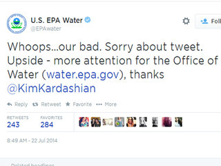 EPA goes off topic, tweets about Kardashian