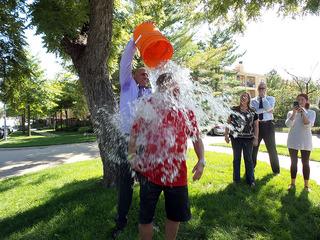 Jack Harry takes the Ice Bucket Challenge