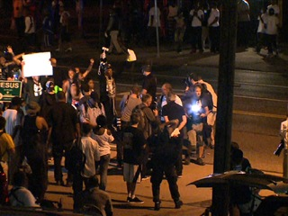 What happens in Ferguson if no charges filed?