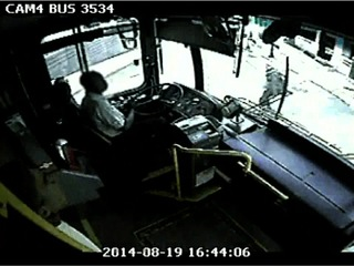 Video shows distracted bus driver hit pedestrian