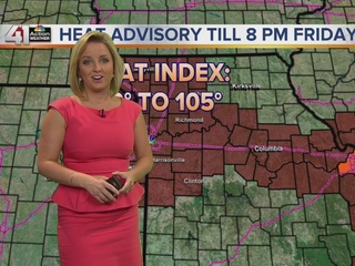 Highs in the 90s Wednesday through Sunday