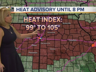 Air temps in the 90s, heat index over 100°