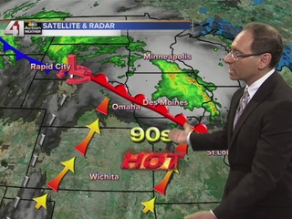 Next cold front arrives Wednesday