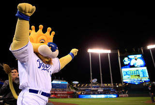 Royals mascot in Mexico City during deadly quake