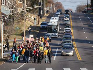 Ferguson protesters opposed in rural Missouri