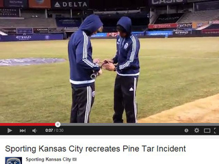 WATCH: Sporting KC stars honor 'Pine Tar Game'