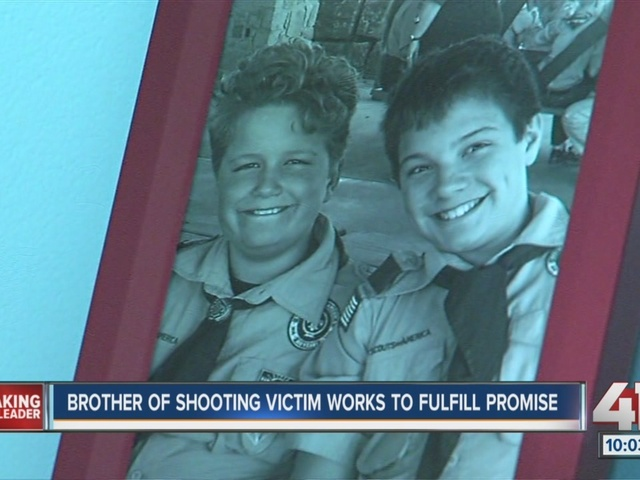 Brother of shooting victim Reat works to fulfill promise