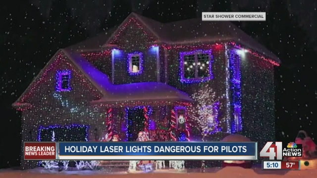FAA, pilots warn of dangers of laser holiday lights - KSHB.com 41 ...