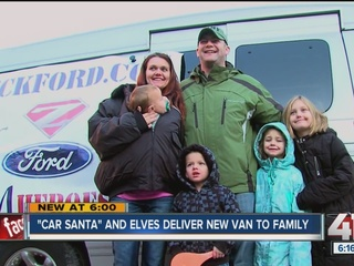 'Car Santa' gives to needy KC families
