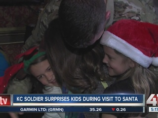 KC soldier returns home, surprises children