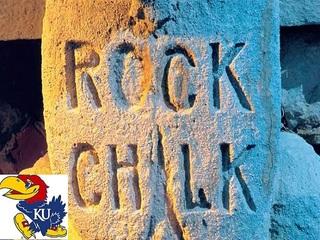 How was KU's 'Rock chalk, Jayhawk' cheer born?
