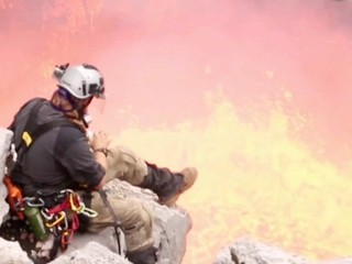 VIDEO: Explorer uses a volcano to make s'mores