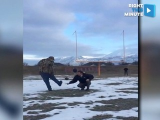 Fans show Blair Walsh how to make a field goal