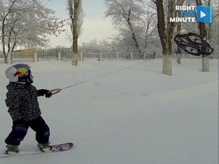 VIDEO: Kid cruises on drone broad