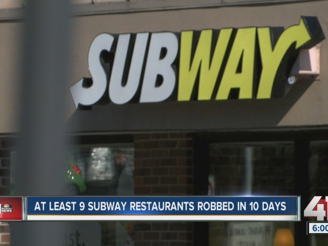 At least nine Subway restaurants robbed in 10 days