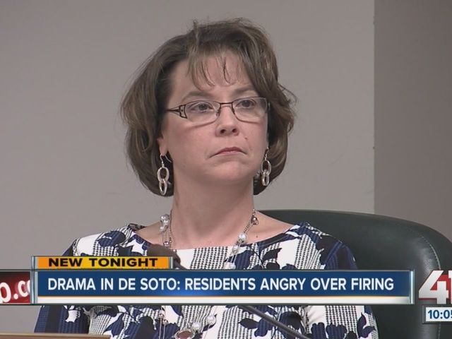 De Soto residents speak out against termination of city administrator,…