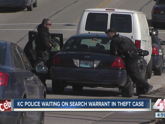 KC police searching home in theft case