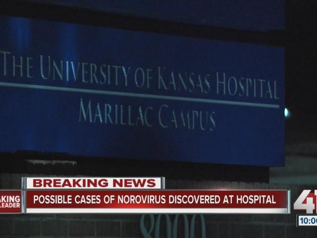 University of Kansas Hospital Marillac Campus says 18 people may have norovirus