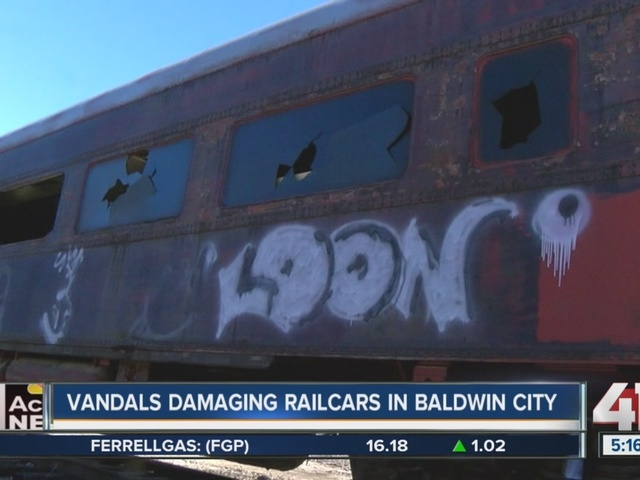 Nonprofit group looking for help in restoring railcars damaged by vandals