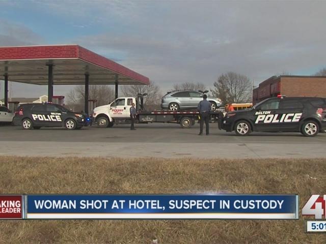 One in custody after Belton hotel shooting