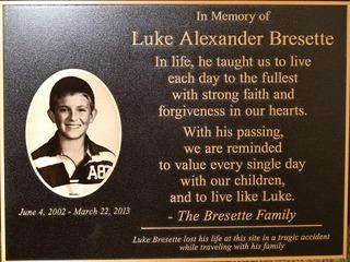 Alabama airport unveils Luke Bresette plaque