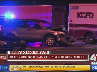 Driver killed in rollover crash on I-70 in KCMO