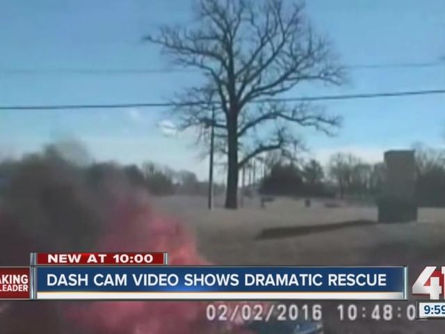 WATCH: Dash cam video shows dramatic rescue