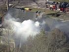 Crews battle two-alarm house fire in JoCo