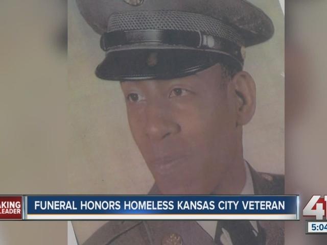 Homeless Vietnam veteran gets military honors at funeral