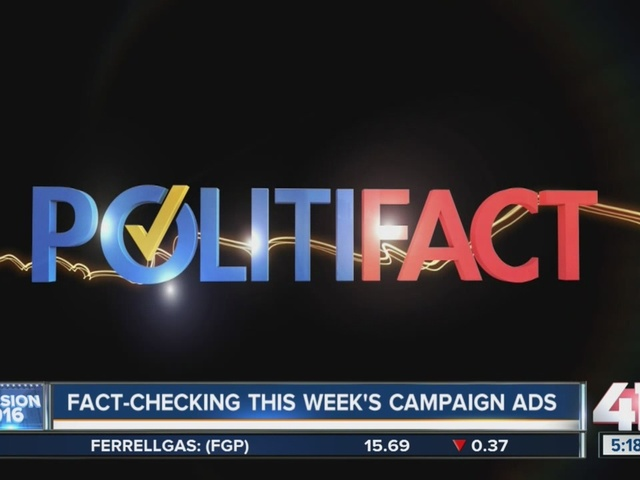 Politifact fact checks this week's campaign ads
