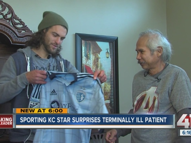 Sporting KC star surprises terminally ill patient