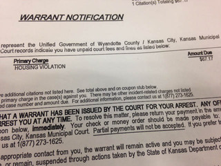 Arrest warrant issued over KCK man's $67 fine