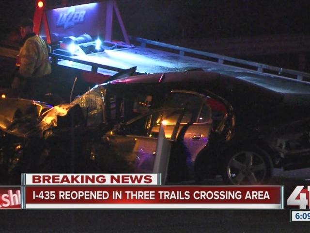 I-435 lanes open after multiple vehicle crash